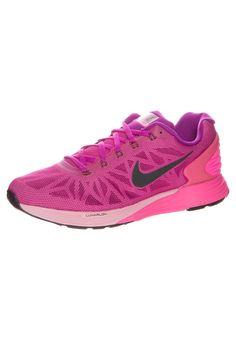 Nike Performance NIKE LUNARGLIDE 6 - Stabiliteit hardloopschoenen - fuchsia flash/black pink pow - Zalando.nl