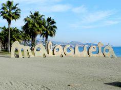 La Malagueta, Malaga, Costa del Sol, Der Strand von Malaga Stadt. Andalusien - Andalucia