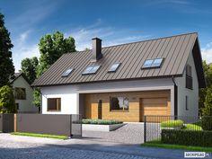 Projekt domu E6 G1 ECONOMIC (wersja A) - wizualizacja frontowa