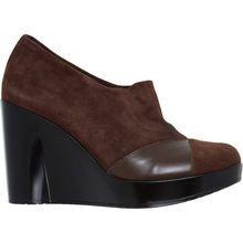 Robert Clergerie Dark Brown Leather Wedges