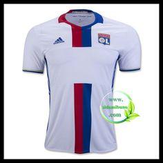 Fotballdrakter Olympique Lyonnais Hjemmedraktsett 2016-2017 Lyonnaise, Soccer Shirts, Suits, Track, Training, Shopping, Tops, Fashion, Football T Shirts