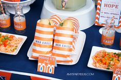 Auburn Tailgate Football Party Ideas #wareagletailgating #auburn #football #tailgate #party - sandwich wrappers