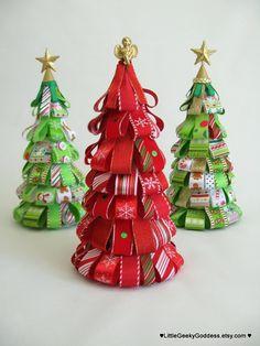 Navidad Candy caña cinta árbol (uno sólo)