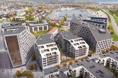 Portalen, Lillestrøm - BREEAM-NOR Portal, Paris Skyline, The Unit, Mansions, House Styles, Travel, Image, Home Decor, Viajes