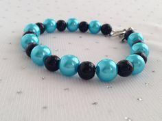 Turquoise and Black Pearl Bracelet Turquoise by CherishedJewelryCo, $14.00