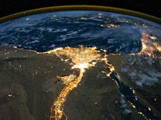 egypt as seen from space from nasa.gov