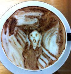 .·:*¨¨*:·.Coffee ♥ Art.·:*¨¨*:·. The Scream latte