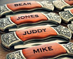 Items similar to Groomsmen Gift - Set of 14 Engraved Rosewood Hunting Knife with Decorative Handle - Gifts for Groomsmen on Etsy