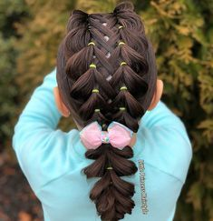 Little Girls ponytail hair dos don't have to be boring this look made that very clear