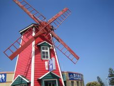 Red Windmill, Port Elizabeth Water Wheels, Port Elizabeth, Windmills, Eccentric, Netherlands, South Africa, Landscapes, African, Spaces
