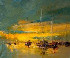 Marine painting - Justyna Kopania