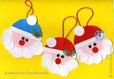 Мастер-класс Поделка изделие Новый год Рождество Аппликация Игрушка на елку детскими ручками МК Бумага фото 1