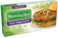 Made with water chestnuts, celery, onion and bamboo shoots for a veggie burger that's both sweet and a bit spicy. *MorningStar Farms® Asian Veggie Patties contain 71% less fat than regular ground beef. Regular ground beef contains 15g total fat per serving (67g). MorningStar Farms® Asian Veggie Patties contain 4g total fat per serving (67g).