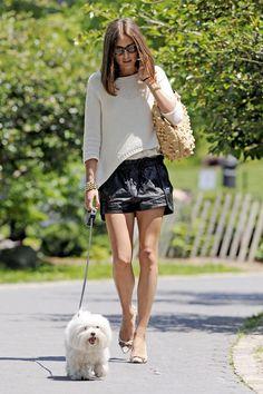 Olivia Palermo Photo - Olivia Palermo Walks the Dog in NYC