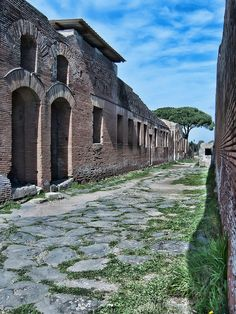 Roman Remains of the ancient port city of Ostia (HDR), via Flickr., Ostia Antica, Rome, province of Rome Lazio
