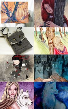 the true story of little red and her wolf.... by Ann Brauer on Etsy--Pinned with TreasuryPin.com