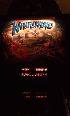 My first time ever getting my initials on a pinball machine! #2 AMK--That's me! Happened in June 2012 on Whirlwind YAY!!!!