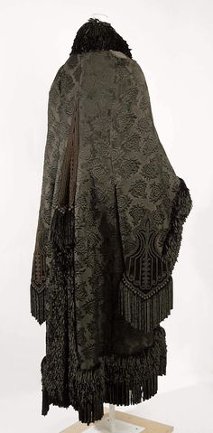 Cloak Emile Pingat  (French, active 1860–96) Date: 1879–80 Culture: French Medium: silk; back view