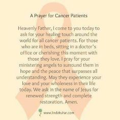 Prayer for all Cancer patients