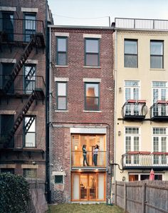 Backyard view of a gorgeous townhome in Harlem. Bathroom and kitchen are amazing!