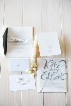 All White Wedding: invitations and stationery to complete your classic look.