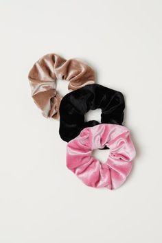 Owijka do włosów 3-pak - Różowy/Welur - ONA | H&M PL 1