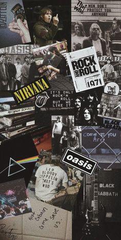 Iphone Wallpaper Rock, Pop Art Wallpaper, Hippie Wallpaper, Black Wallpaper, Galaxy Wallpaper, Rock Band Posters, Rock Poster, Black Aesthetic Wallpaper, Aesthetic Iphone Wallpaper
