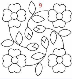 Hand Embroidery Videos, Hand Embroidery Patterns, Applique Patterns, Applique Quilts, Embroidery Art, Flower Patterns, Embroidery Stitches, Quilt Patterns, Border Embroidery Designs