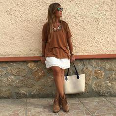 Outfit vestido + camiseta
