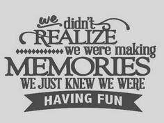 We didn't realize we were making memories  by MorningWoodStudio, $10.00