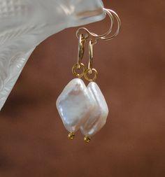 Earrings Pearl Diamond Drop by LindyLeeTreasures on Etsy #Christmas #Gifts #Pearls