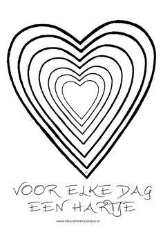 valenijn en liefde hart met kleine hartjes valentijn