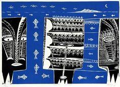 Fatu Feu'u - Viiga poula: Adoration of fertility ritual by night Auckland Art Gallery, New Zealand Art, Scratchboard, Samoan Tattoo, Moana, Printmaking, Planters, Artist, Artwork