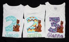 Personalized Scooby Doo Birthday Onesie or Tshirt by slmeccage