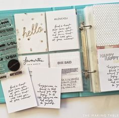 Free Printables | Handwritten Quote Cards for Project Life | The Making Table: Project Life. Scrapbooking. Memory Keeping.