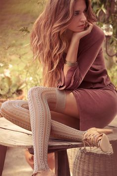 Cozy, feminine stockings and socks from Calzedonia
