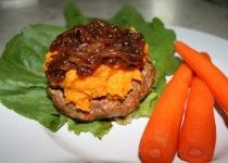 Burgers with Butternut Squash and Caramelized Onions