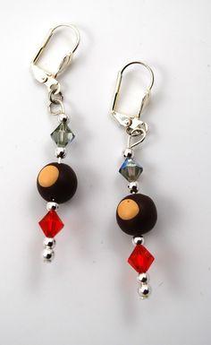 Ohio State Buckeye Earrings By Mollydots On Etsy Https Listing 161120767 Jewelry Pinterest