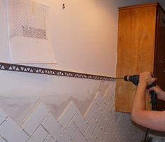 Schluter edge with tile Bath remodel Pinterest