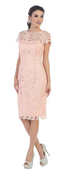 Short Lace Mother of Bride Dress 2018 - The Dress Outlet