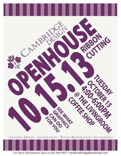 Graphic Design Illustration, Open House, Cambridge, Facebook, Poster, Posters