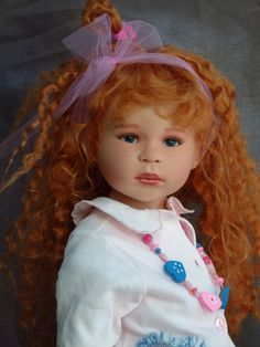 """Arlene's Dolls - Maja Bill Vinyl Dolls: She looks as if to say, """"Did you say something?"""" Adorable!@"""