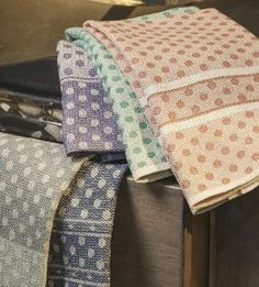 Polka Dot Towels in Summer and Winter