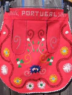 Vintage Portugal Hand Embroidered Children's Apron by jenEembroidery, $32.00