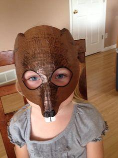Beaver mask, beaver costume