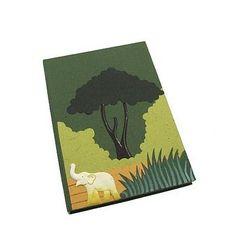 Green elephant dung large notebook journal