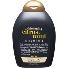 Organix for Men Citrus Mint 3 in 1 Shampoo + Conditioner + Body Wash, 13 fl oz Best Hair Thickening Shampoo, Ogx Shampoo, Mint Shampoo, Shampoo And Conditioner, Shampoos, Hair Shampoo, Hair Loss Pills, Grey Hair Care, Natural Hair Loss Treatment