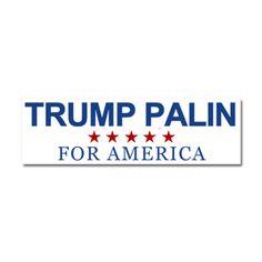 Trump Palin For America Car Magnet 10 X 3