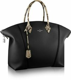 Louis Vuitton Black Soft Lockit Tote Bag - Spring 2015