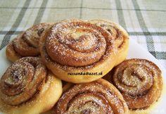 Škoricové slimáky Ciabatta, Cake Cookies, Doughnut, Pancakes, Muffin, Easy Meals, Food And Drink, Pie, Baking